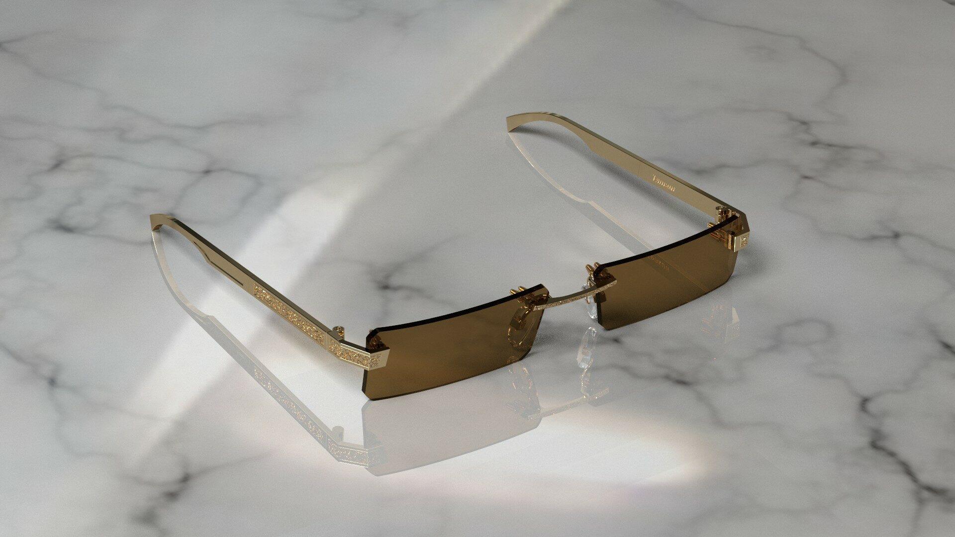 солнцезащитные очки из золота