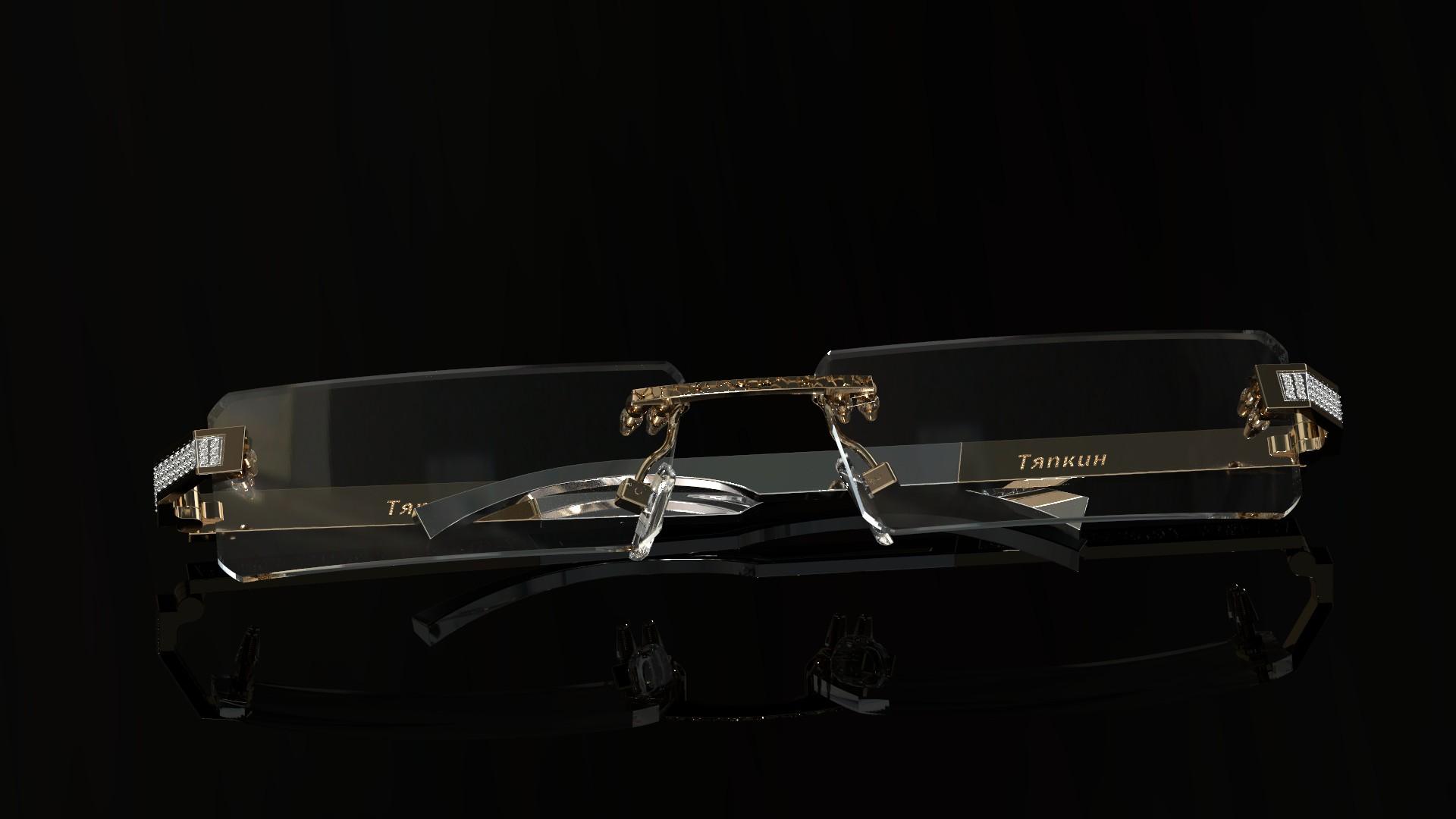 Золотые очки с бриллиантами
